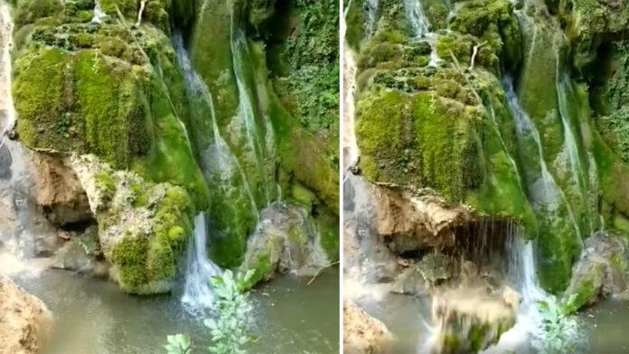 Cascada Bigăr FOTO: Captură video Romsilva