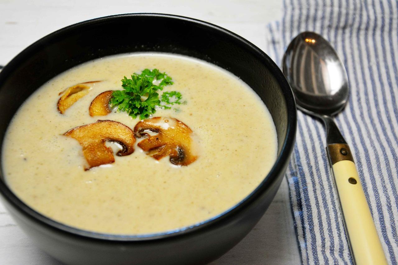supa cremă de ciuperci calorii